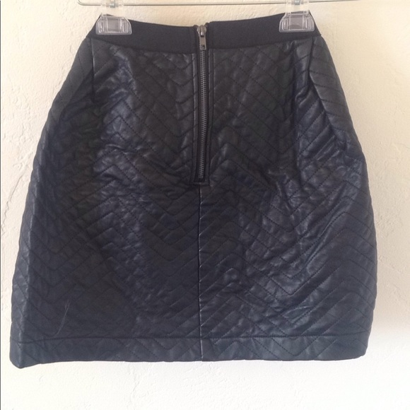 0480d7022 ASOS Skirts | Yas Quilted Faux Leather Skirt | Poshmark